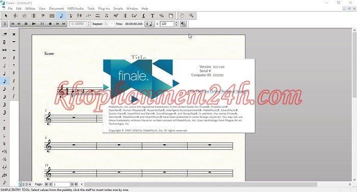 Download MakeMusic Finale 26 full key - Chương trình soạn nhạc 2