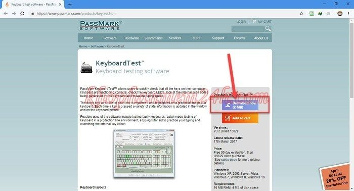 2 cách test bàn phím, test keyboard máy tính nhanh chóng hiệu quả 4