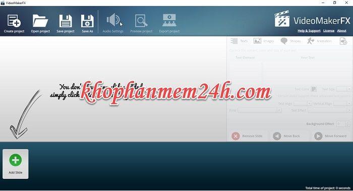 Tải VideoMakerFX 1.05 full - Phần mềm làm video quảng cáo 2