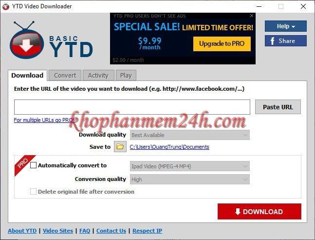 Tải YTD Video Downloader 5.9 full - Phần mềm tải video youtube, facebook 1