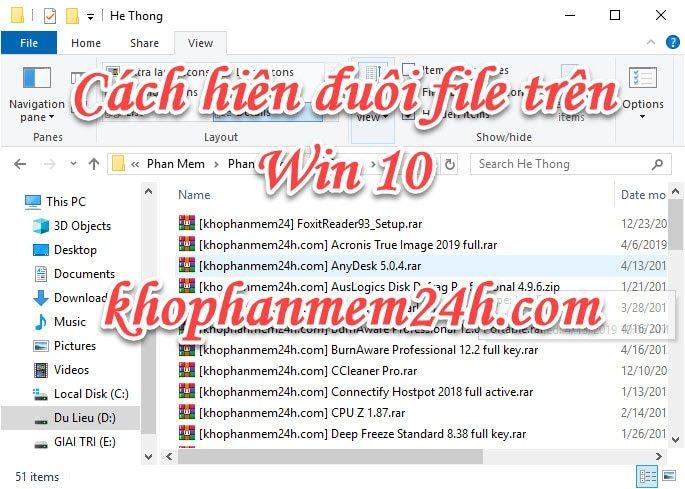 2 Cách hiện đuôi file win 10 đơn giản nhất 1