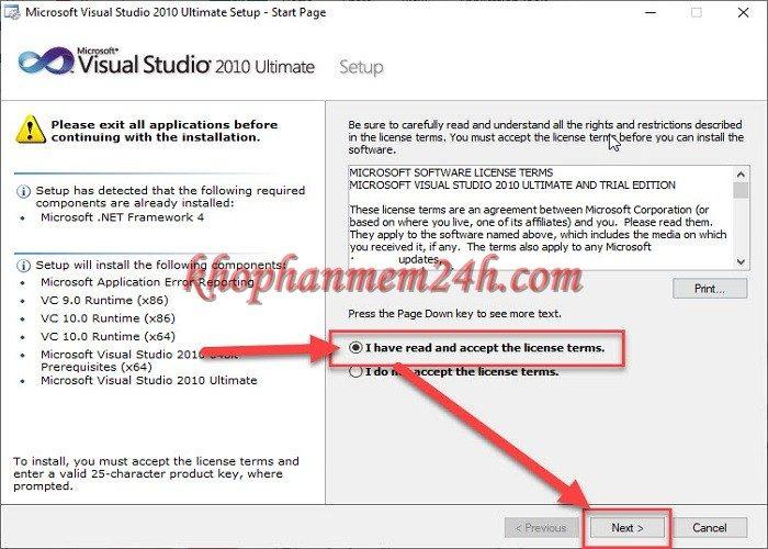 Tải Microsoft Visual Studio 2010 Ultimate full - Hướng dẫn cài đặt chi tiết 6