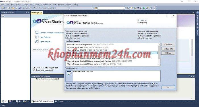 Tải Microsoft Visual Studio 2010 Ultimate full - Hướng dẫn cài đặt chi tiết 11