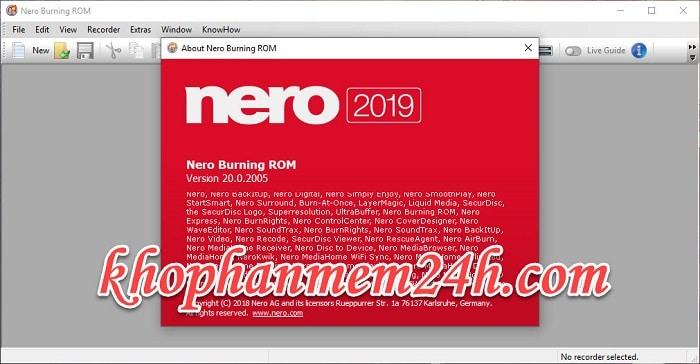 Tải Nero Burning Rom 2019 v20 full - Phần mềm ghi đĩa chuyên nghiệp 1