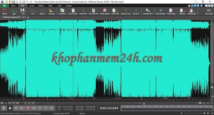 Tải Wavepad Sound Editor full 9.13 mới nhất - Phần mềm chỉnh sửa âm thanh 1
