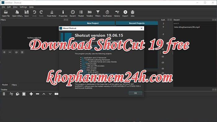 Tải Shotcut 19 32bit & 64bit – Hướng dẫn cài đặt chi tiết