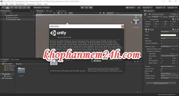 Tải Unity 3D Pro 2019 mới nhất - Hướng dẫn cách cài đặt chi tiết 1