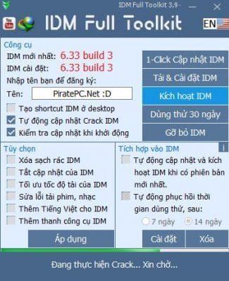 Tải IDM Toolkit 3.9 - Công cụ kích hoạt IDM 2019 2
