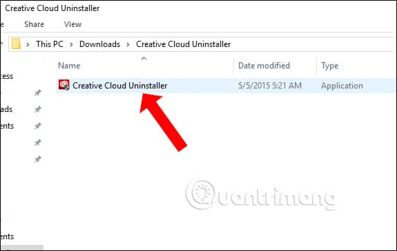 Cài công cụ Creative Cloud Uninstaller