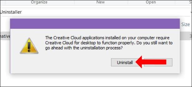 Gỡ cài đặt Adobe Creative Cloud