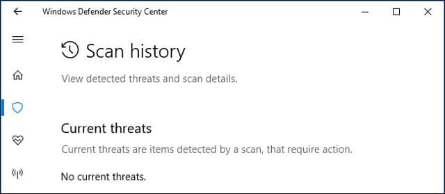 Mở Windows Defender Security Center