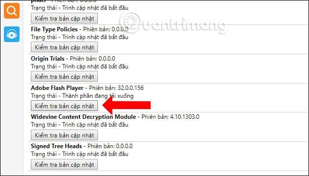 Kiểm tra phiên bản Adobe Flash