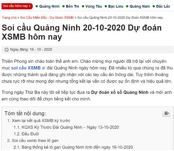 Một bài chia sẻ số đẹp của Thiên Phong